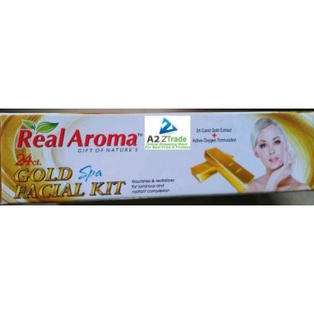 24 ct. 5 in 1 Gold Spa Facial Kit with Active Oxygen-Real Aroma, 160gm
